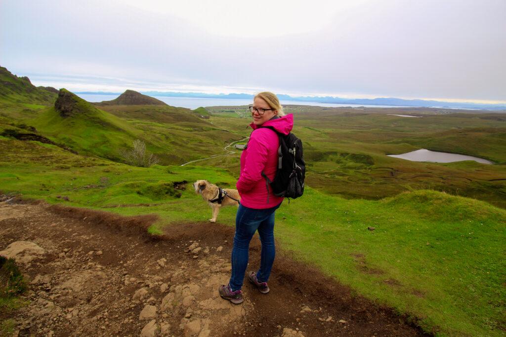 Isle of Skye mit Hund - Quiraing
