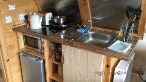 Glamping Pod - Küche